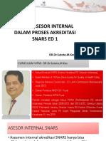Peran Asesor Internal Dalam Akreditasi Snars