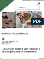 Entrevista a Almudena Hernando – El Cuaderno