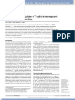 An Update on Regulatory T Cells in Transplant