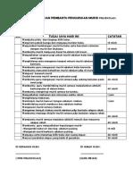 Senarai Tugas Harian Pembantu Pengurusan Murid Prasekolah