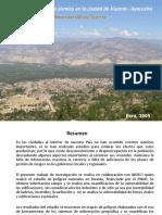 Riesgo Sismico en La Ciudad de Huanta, Ayacucho
