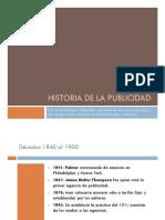 Historia de La Publicidad Diapositivas