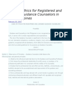 Code of Ethics for Registered and Licesed Guidance Counselors in the Philippines