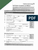 Id Theft and Complaint Affidavit