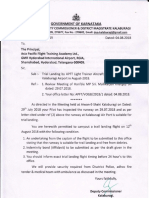 Airport Permission Letter of Trial Landing