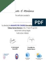 Certificate Echo 2018