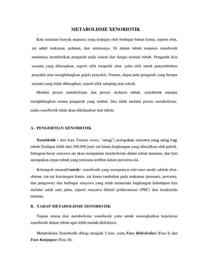 Metabolisme Xenobiotik Pembahasan