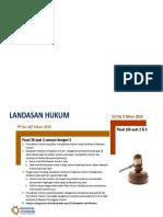 Landasan Hukum Pengecualian