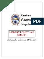 KVS Library Policy Draft2012