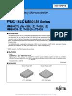 MB90F439S 16 Bit Controller Data Sheet
