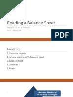 Reading Balance Sheet
