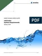 Avedos Risk2value System Requirements v5 3