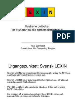 nynorsk ordbok lexin