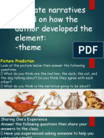 evaluate narrativs based on how the author developed the element THEME.pptx