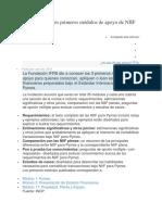 IFRS Publica Tres Primeros Módulos de Apoyo de NIIF Para Pymes