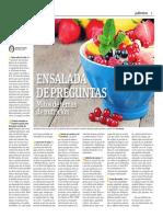 Ensalada de Preguntas, Mkitos de Temas de Nutrición