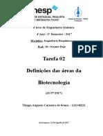 Tarefa 02 - Eng. Bioquim. - Thiago a C Souza