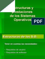 Estructuras y prestaciones