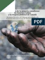 Informe Sobre Responsabilidad Extraterritorial de Los Estados en La Minería a Gran Escala. El Caso de Canadá