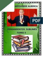 PENSAMIENTOS SUBLIMES TOMO 3 - POEMAS