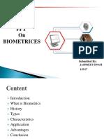 Biometrics Ppt