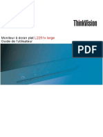 Lenovo Ecran Lenovo Thinkvision l2251x Manuel Fr