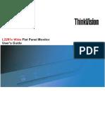 User Manual Lenovo ThinkVision L2251X