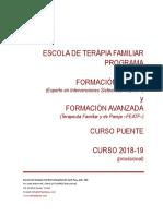 Programa de la escuela de terapia familiar del hospital de sant Pau, Barcelona