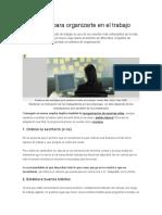5 Consejos Para Organizarte en El Trabajo