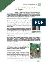Ecología y manejo sostenible de productos no maderables de bosque