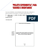 Manual Para Projeto e Monos 2010