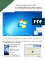 Manual de Activación Panda Antivirus Pro 2010