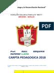 Zacsha Carpeta Pedagogica de Raulin 2018