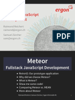 160114 Meteor Fullstack JavaScript Development