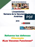 Semana Vacunacion Americas 2018
