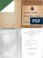 Sánchez, Florencio - Cartas de un flojo. El caudillaje criminal en Sud América. El teatro nacional