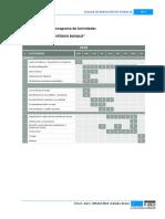 Modelo Cronograma de Actividades para una Tesis de Grado