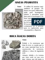 Rocas Ígneas Uso