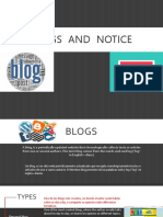 Blogs and Notice