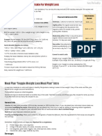 Veggie Weight Loss Meal Plan Download