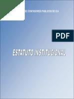ESTATUTOS 1984  COLEGIO DE CONTADORES DE ICA