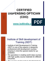 Certified Dispensing Optician (CDO) by BSS