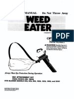Weed Eater Vip 2570 Super Blower