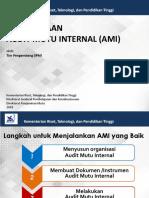 Pelaksanaan Audit Mutu Internal AMI Kopertis 3