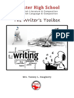 Writing Toolbox (Guidelines)