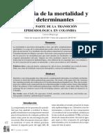 Mortalidad y sus determinantes