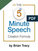Brian Tracy - 5 Minute Speech Formula