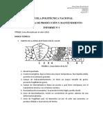 Soldadudra de Producción y Mantenimiento Informe 1