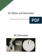 DC Motor and Generator