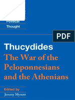 Thucydides - the war of the peloponnesians  and the athenians